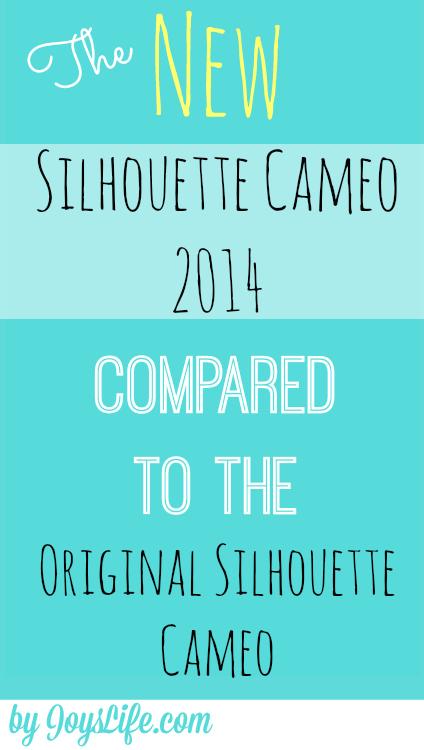 New Silhouette Cameo 2014 Compared to Original Silhouette Cameo #SilhouetteCameo