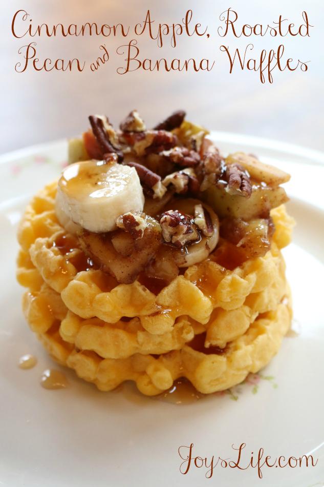 Cinnamon Apple, Roasted Pecan & Banana Frozen Breakfast Waffles #4MoreWaffles #shop