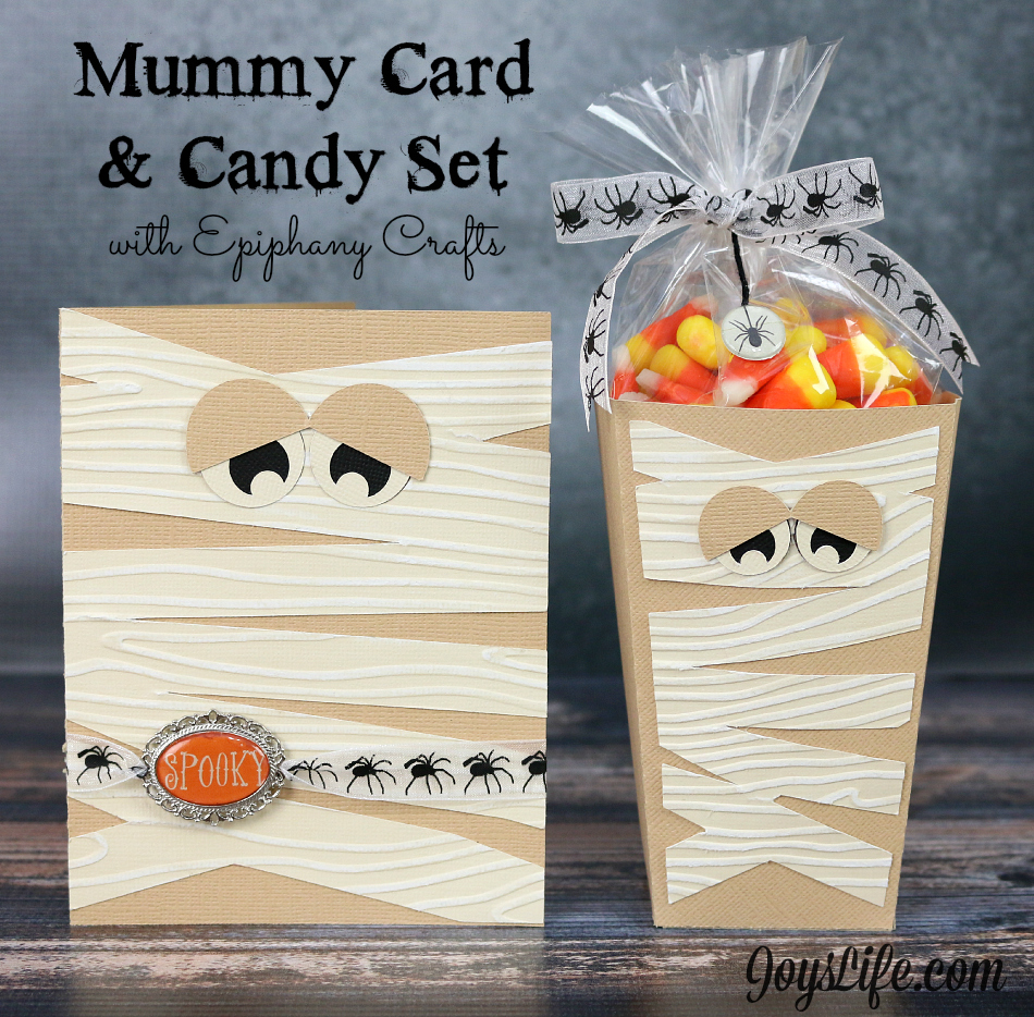 Mummy Card & Candy Set with Epiphany Crafts #EpiphanyCrafts #Halloween #Coredinations #Xyron #Craftwell #CutNBoss