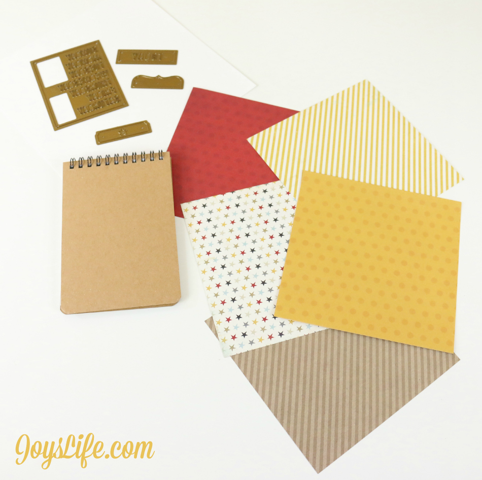 How to Alter a Simple Notebook & Pen for a Unique Look #CutNBoss #Craftwell #craft #notebook #Xyron #altered