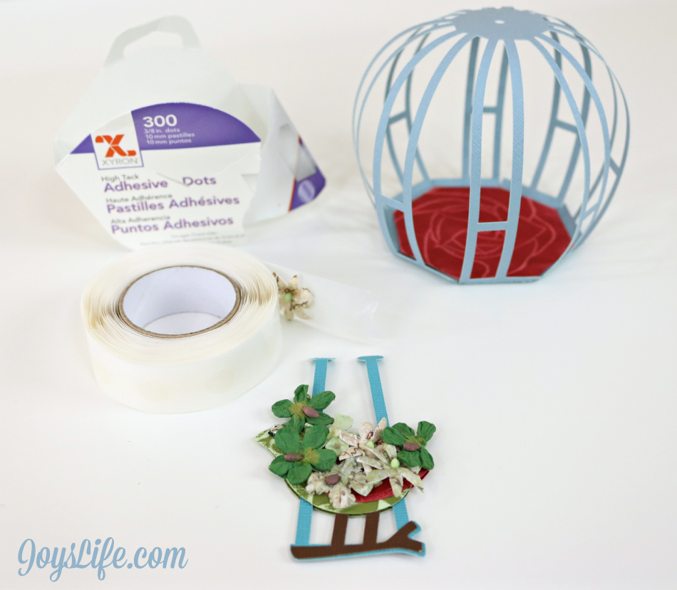 3D Cardstock Floral Birdcage with Xyron, Petaloo and Core'dinations #Xyron #Petaloo #Coredinations #SVGCuts