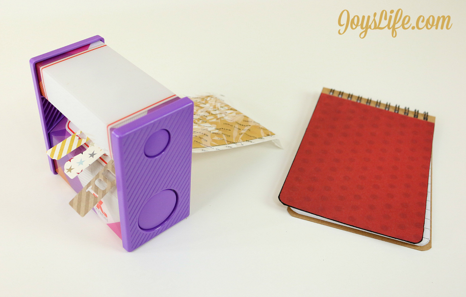 Alter a Simple Notebook for a Unique Look #CutNBoss #Craftwell #craft #notebook #Xyron #altered