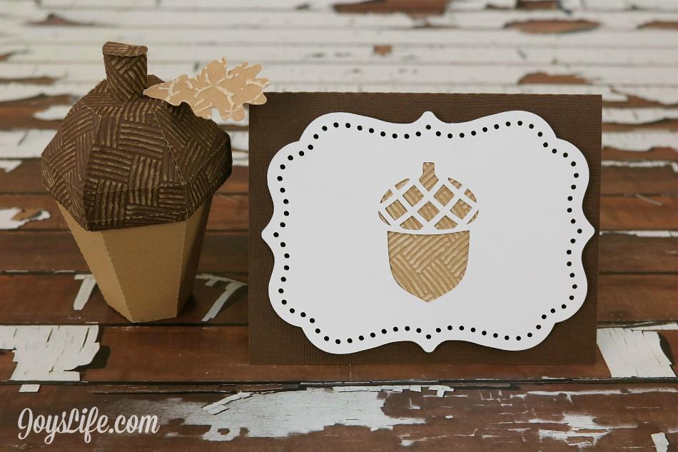 3D Acorn Box and Card