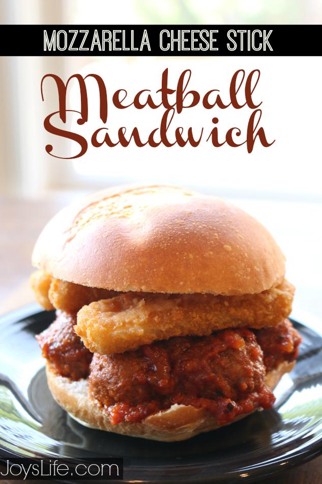 Mozzarella Cheese Stick Meatball Sandwich #recipe