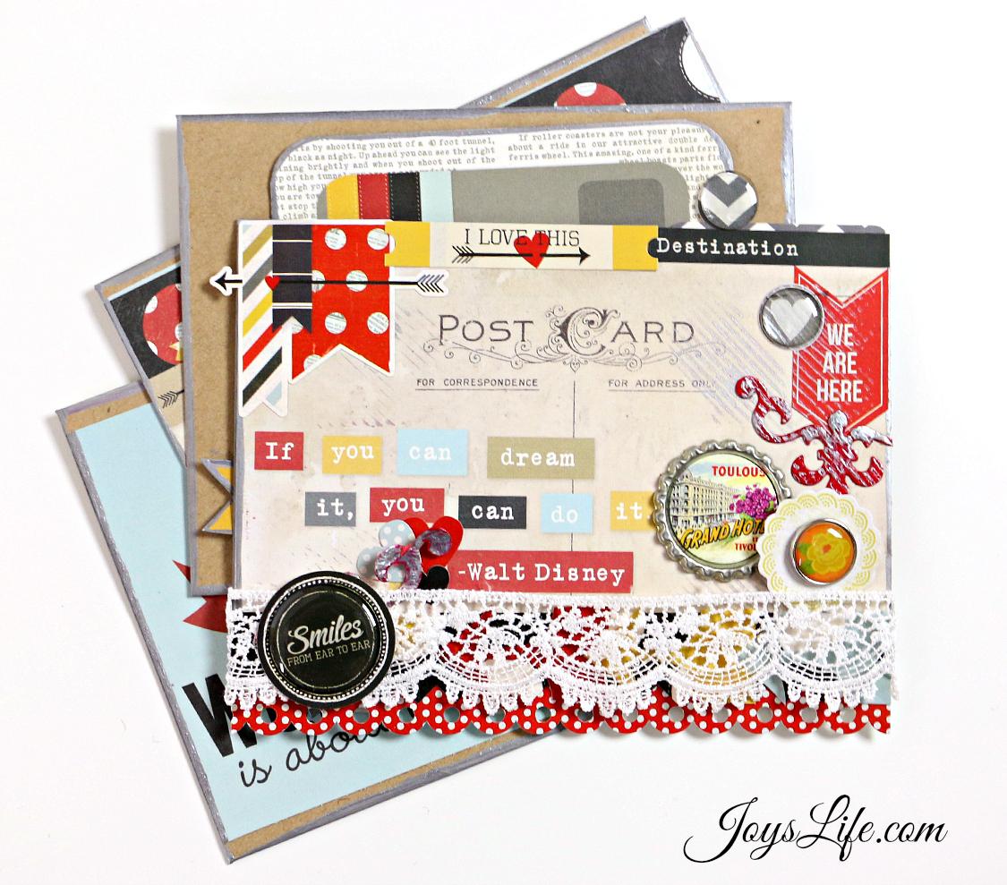 Post Card Envelope Mini Album #Spellbinders #minialbum #DecoArts