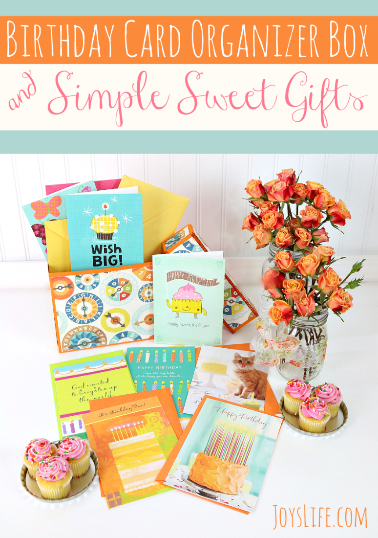 Birthday Card Organizer Box #SendSmiles #ad #SilhouetteCameo #Hallmark