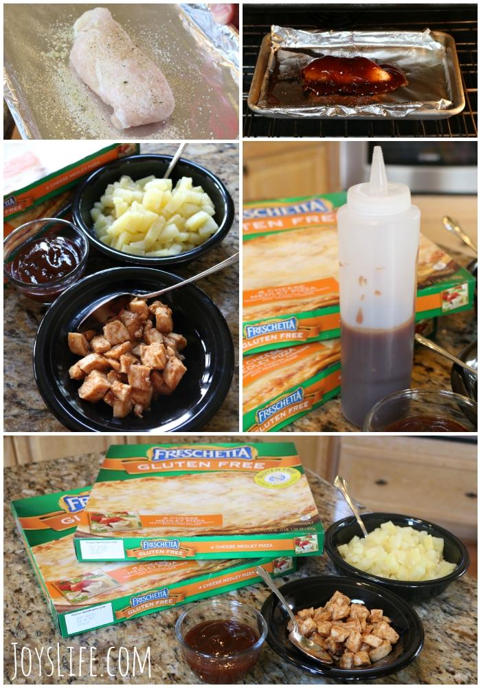 Gluten Free Hawaiian BBQ Chicken Pizza Recipe  #GFreePizzaNight #ad