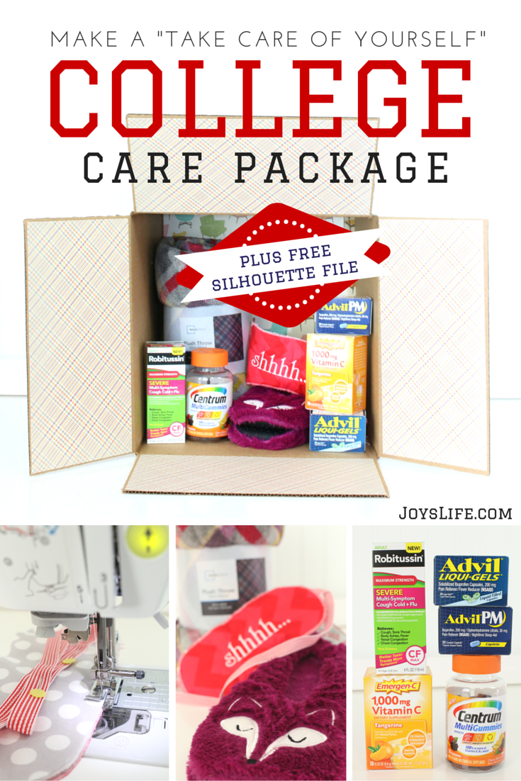 Make a Take Care of Yourself College Care Package + Free Silhouette Sleep Mask File #BeHealthyForEveryPartofLife #Ad