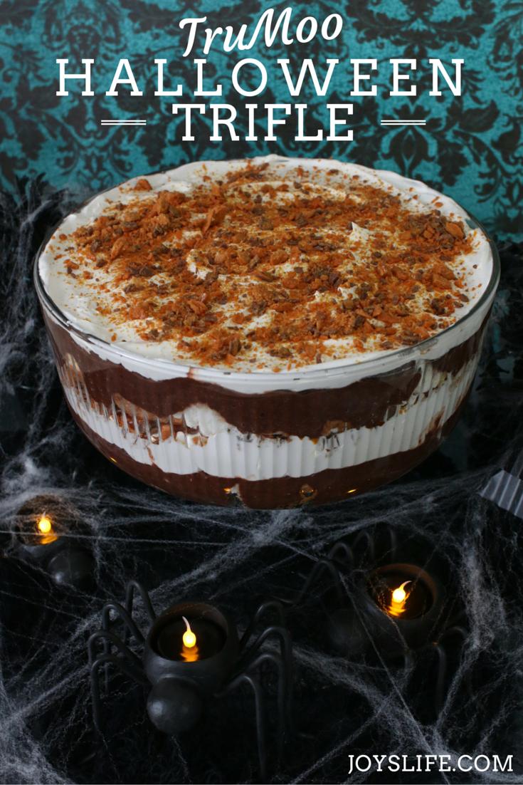 TruMoo Halloween Trifle #TruMooHalloween #orangescream #ad #trifle #dessert #halloween