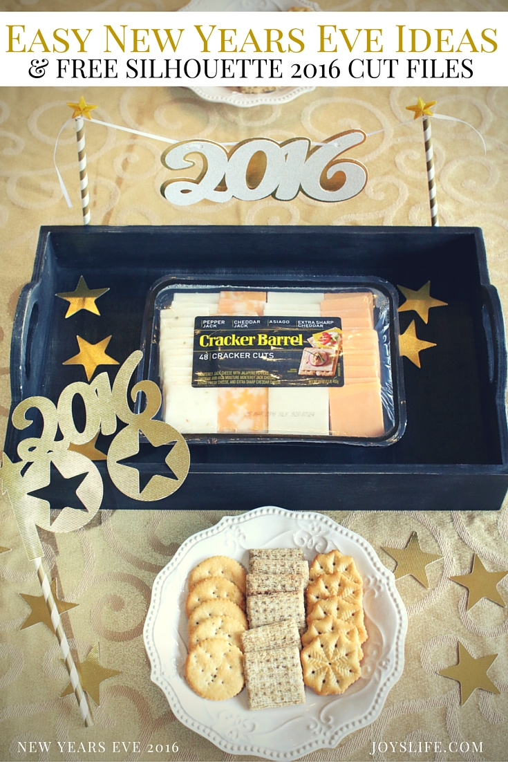 Easy New Years Eve Ideas & FREE Silhouette 2016 Cut Files