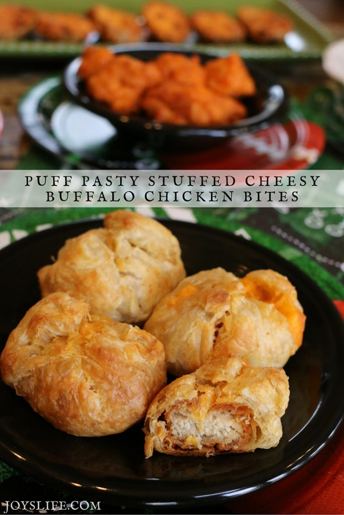 Puff Pastry Cheesy Buffalo Chicken Bites Recipe