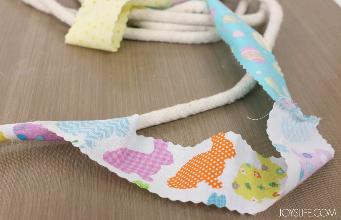 Fabric wrapping rope for Rope Easter Basket