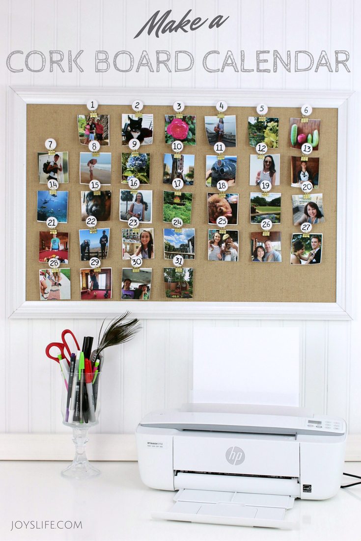 Cork Board Photo Calendar