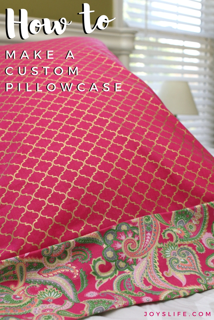 Pink Paisley Pillowcase Tutorial