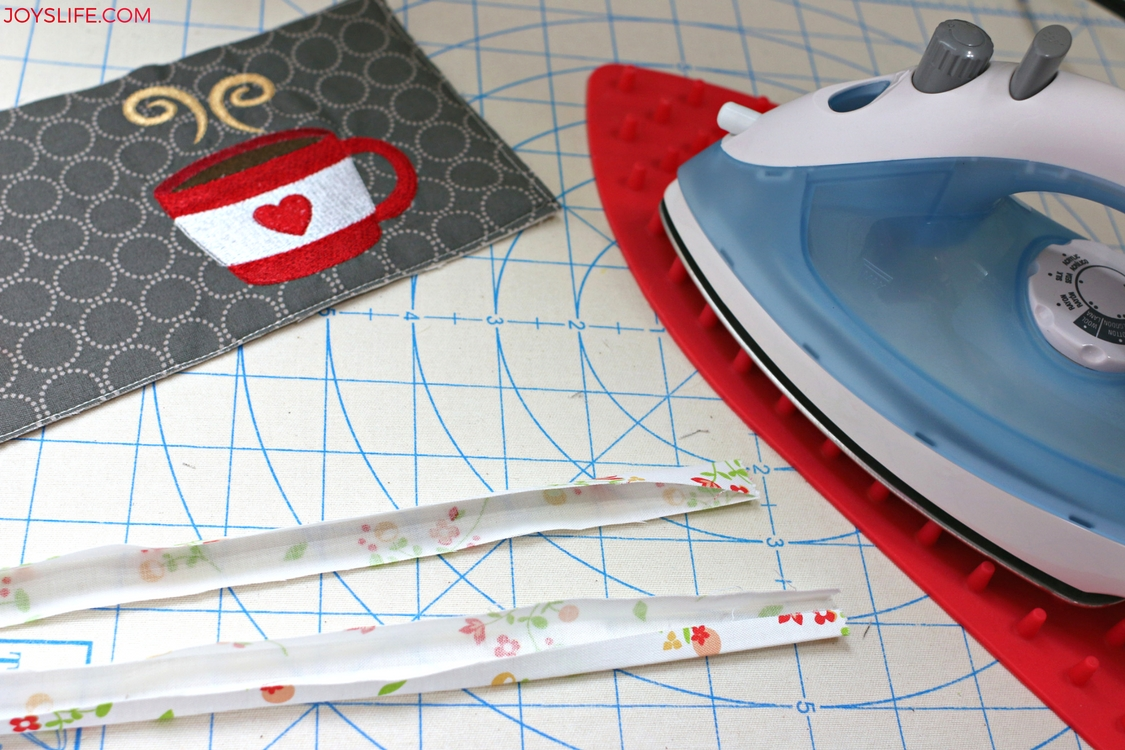 binding ironed