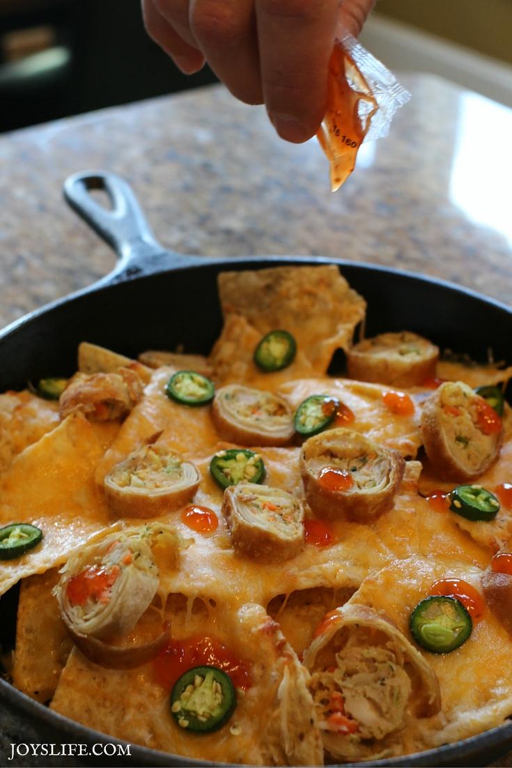 egg roll nacho sauce