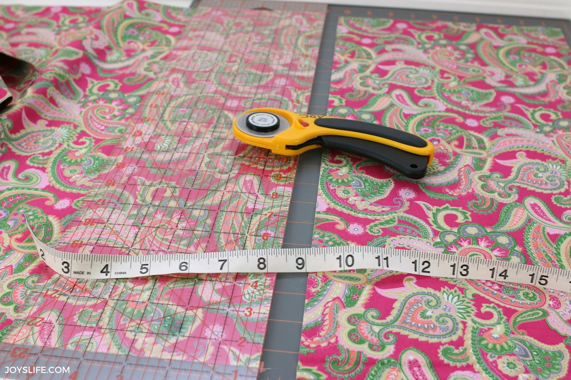 pink gold cut fabric rotary cutter