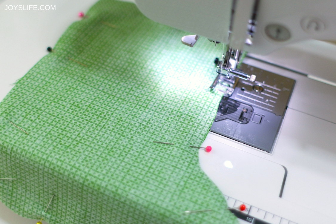 sewing stocking pieces