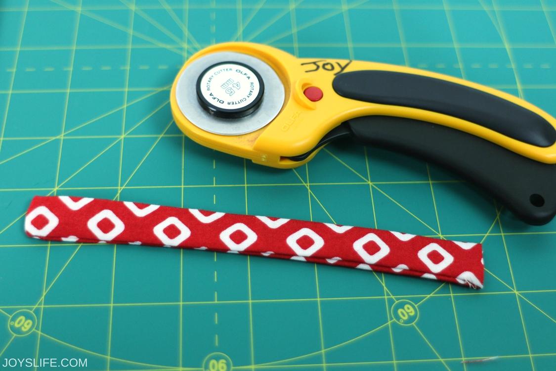 sewn folded strip
