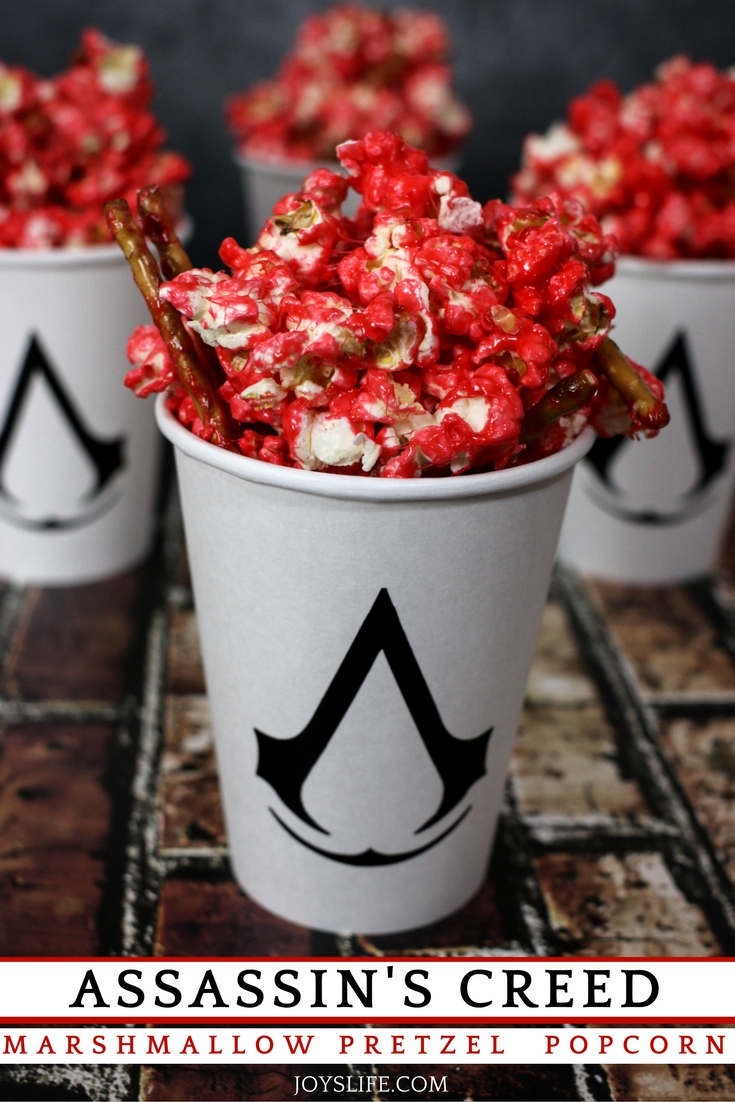Assassin's Creed Marshmallow Pretzel Popcorn