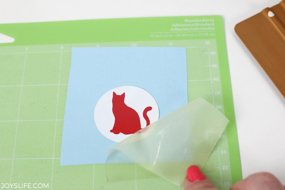 cat vinyl transfer tape removed