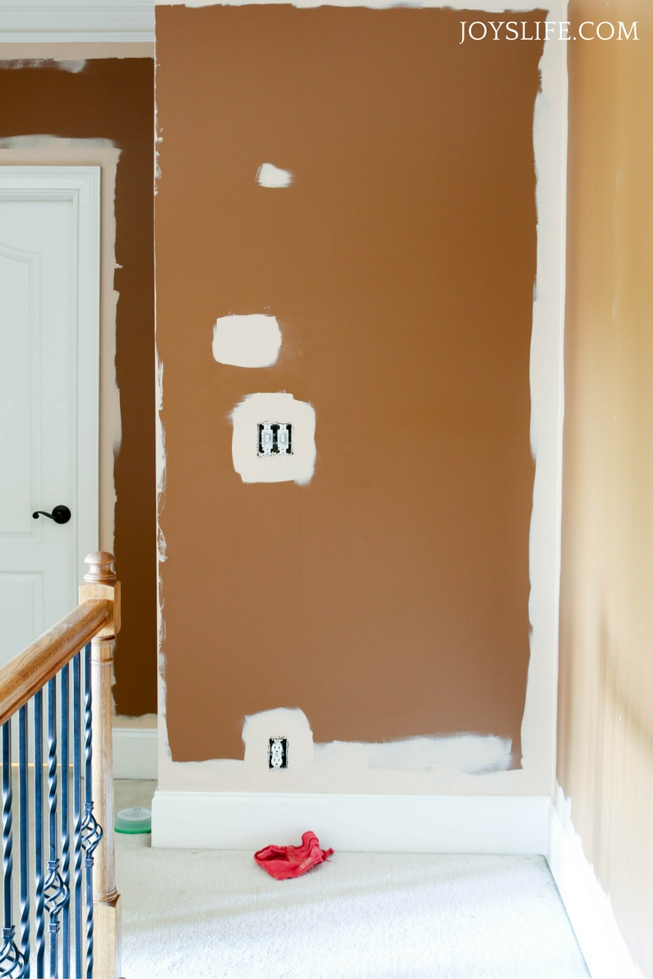 hallway cutting in paint