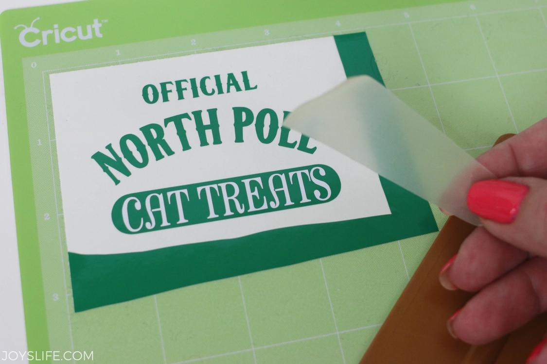 north pole cat treat transfer tape
