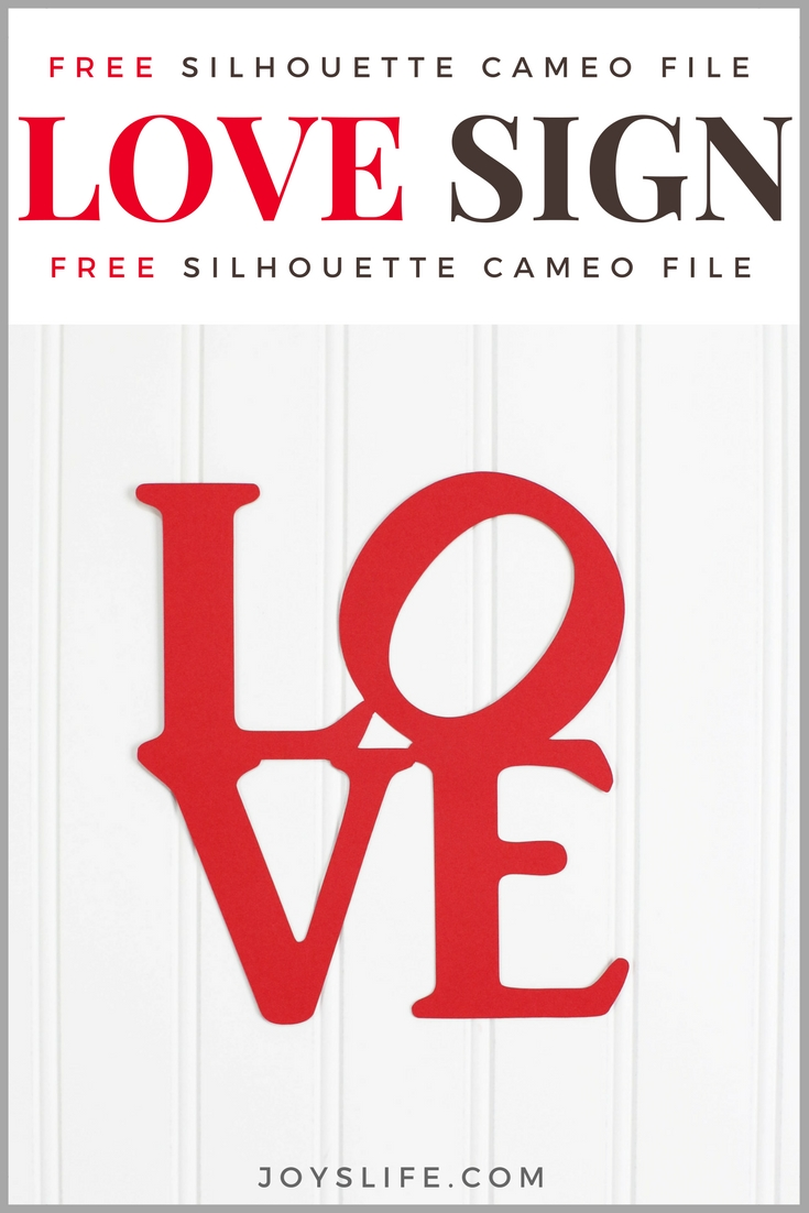 Love Sign Free Silhouette Cameo File