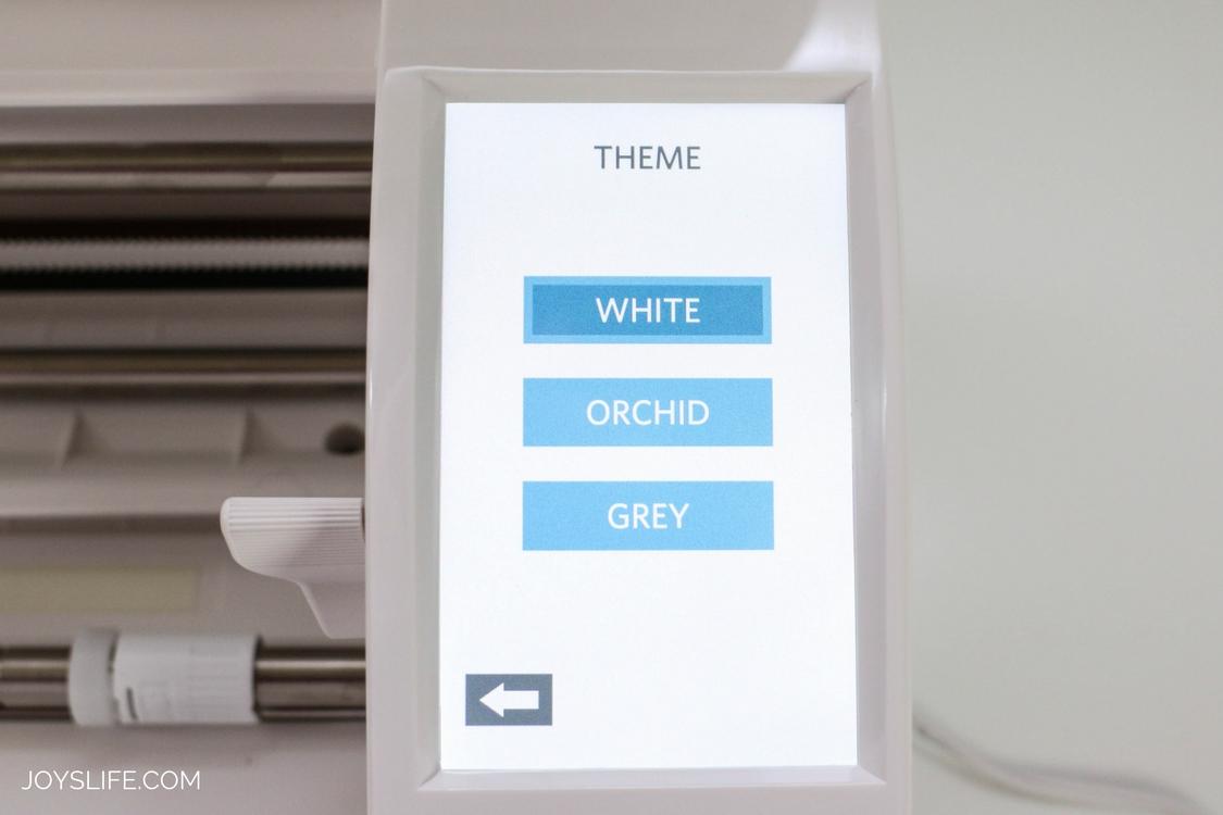 Silhouette Cameo 3 White menu screen