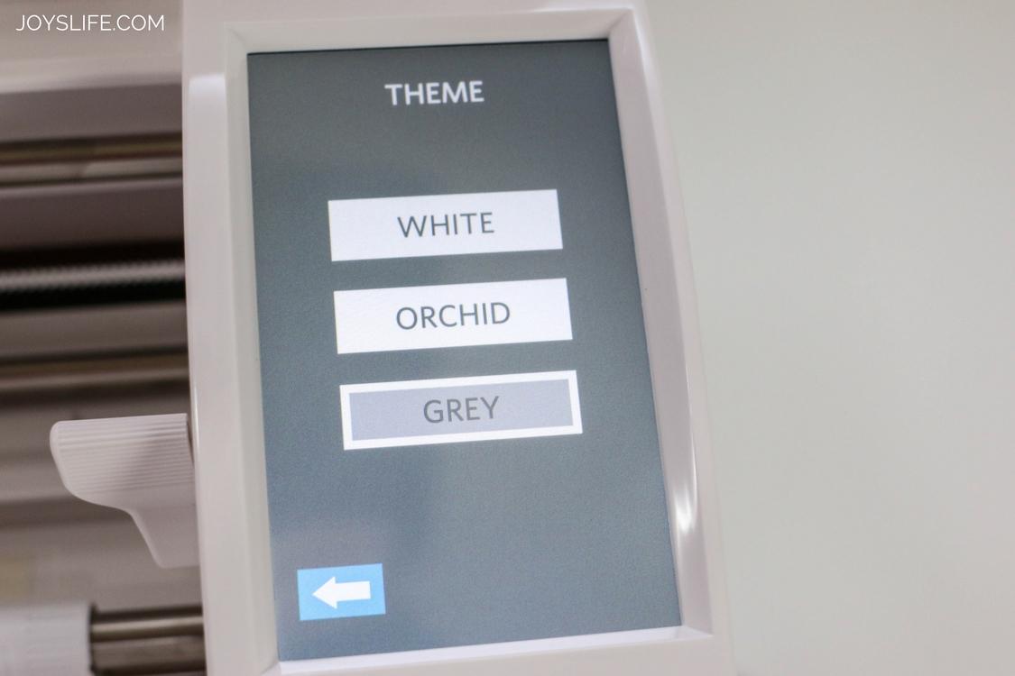 Silhouette Cameo 3 Grey menu screen