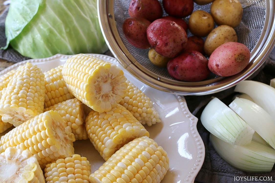 corn cut cleaned