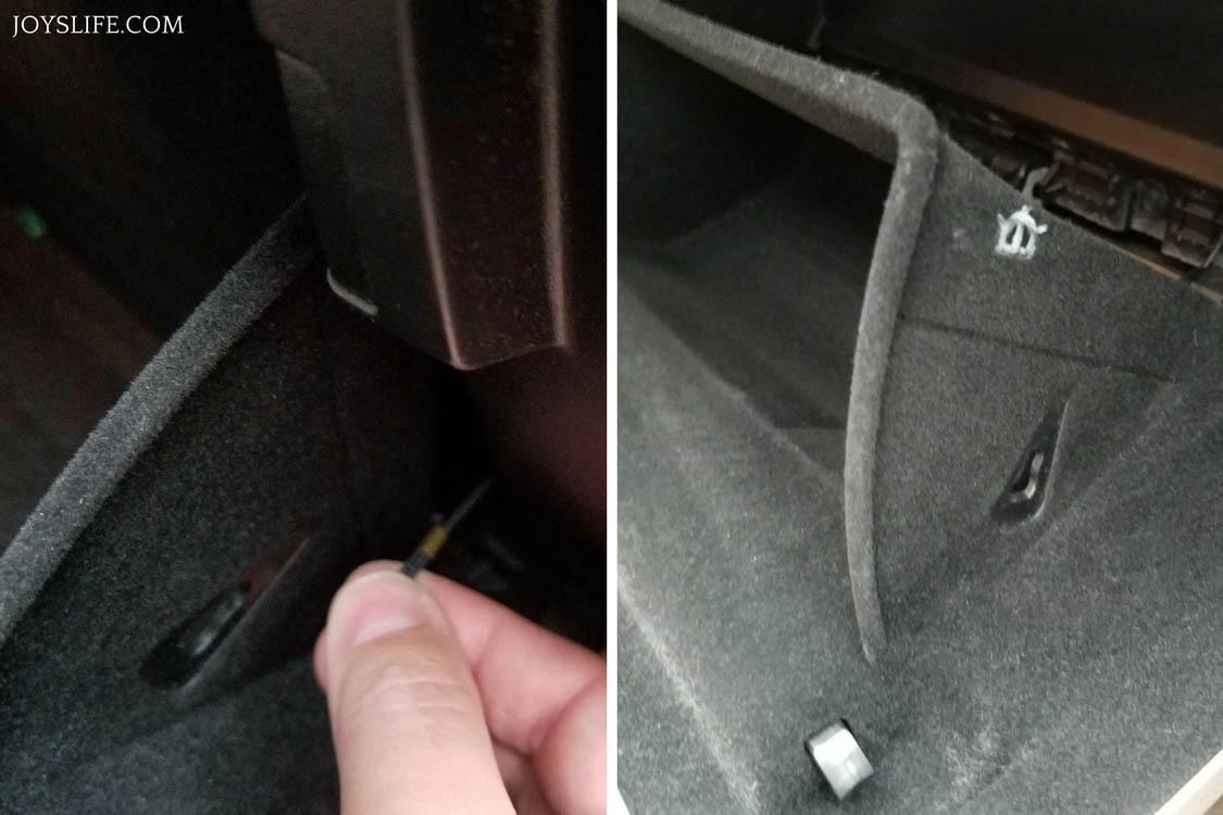 removing dampener cord