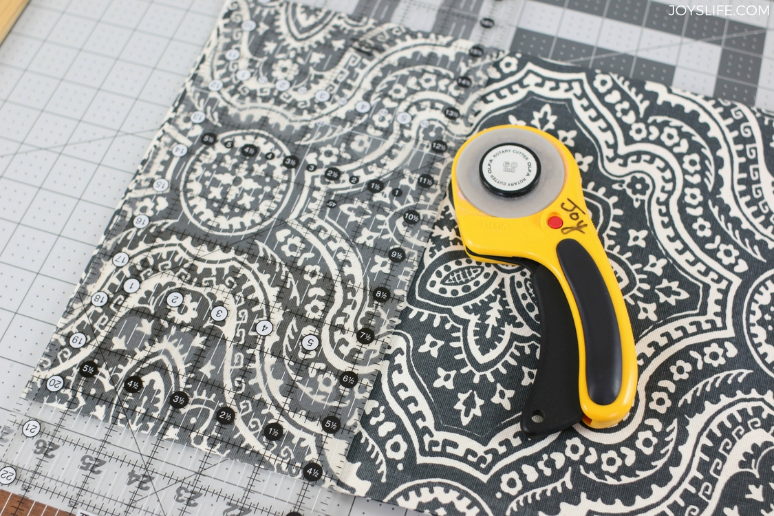 paisley pillowcase cutting mat