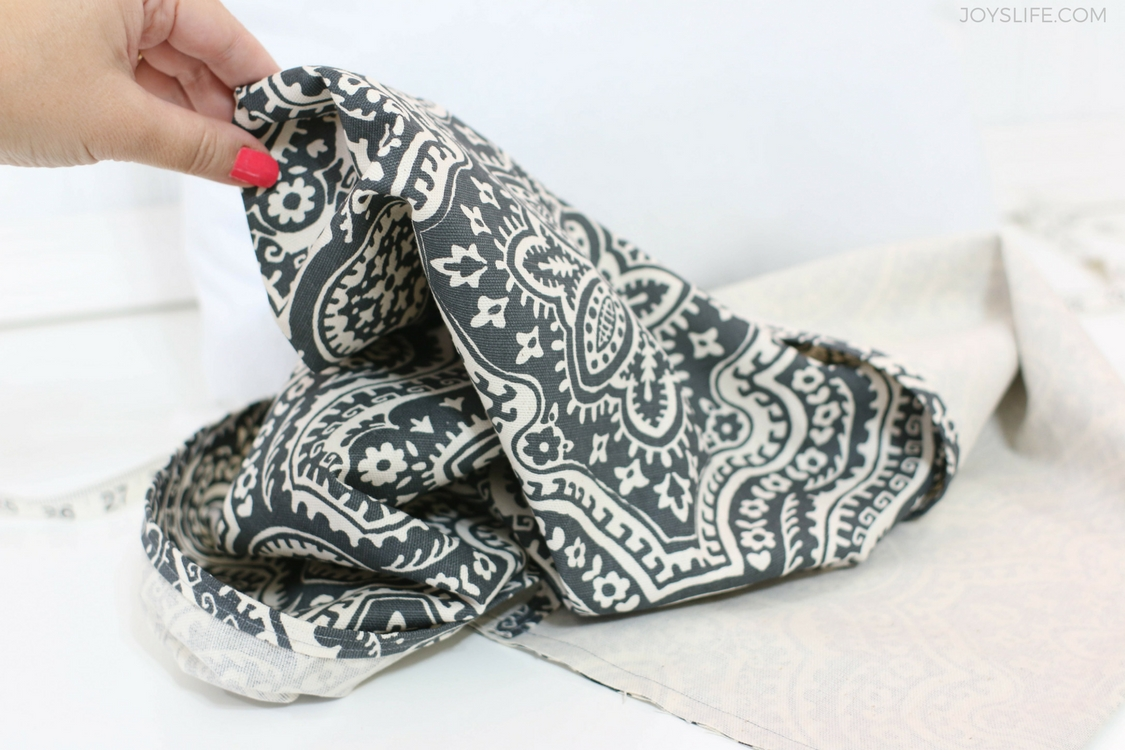 turn the paisley pillowcase inside out