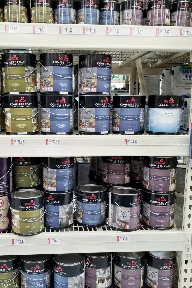 KILZ paint on the shelf at Walmart