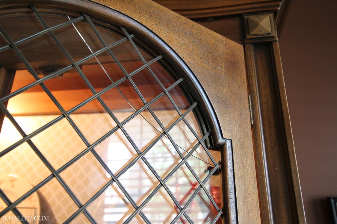 china cabinet broken glass