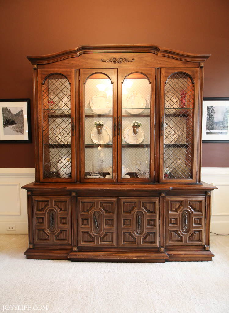china cabinet tall before