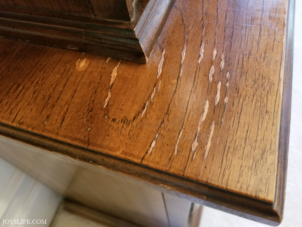China cabinet scratches