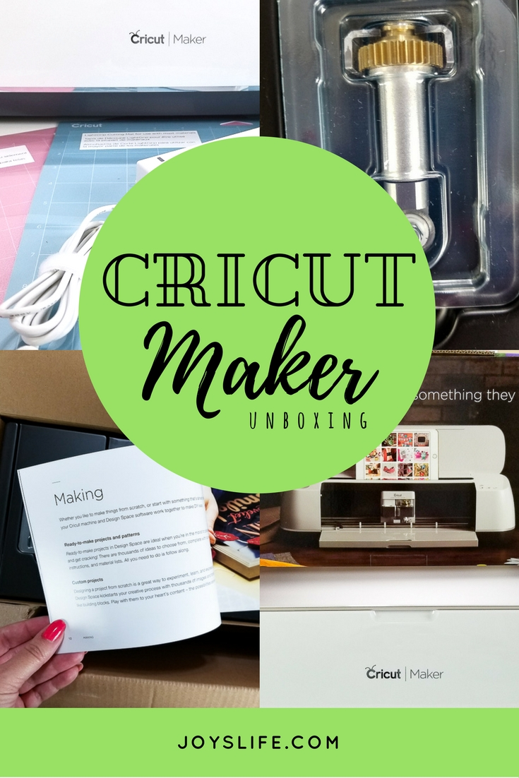 Cricut Maker unboxing collage
