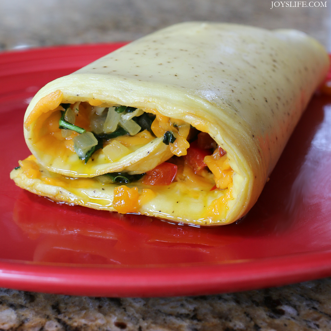Spinach Omelet Roll