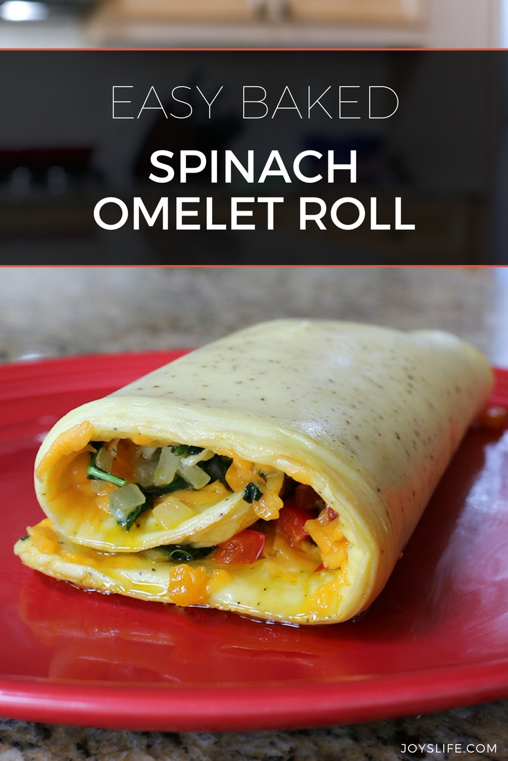 easy Baked Horizon organic spinach Omelet Roll