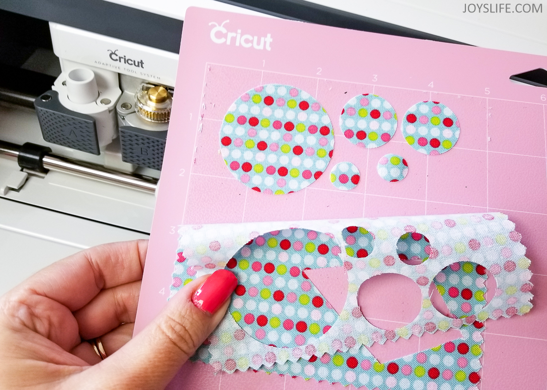 Cricut Maker 1inch fabric circles