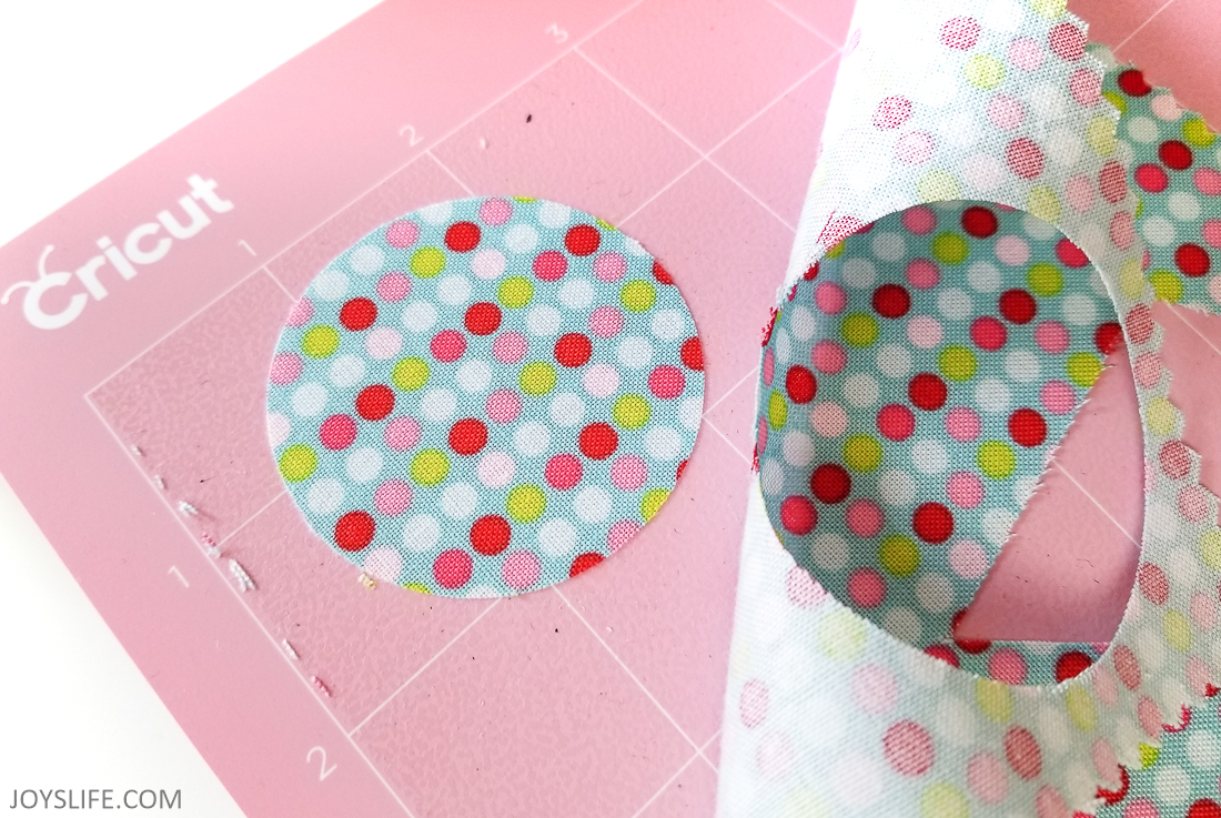 Cricut Maker 2 inch fabric circle cut