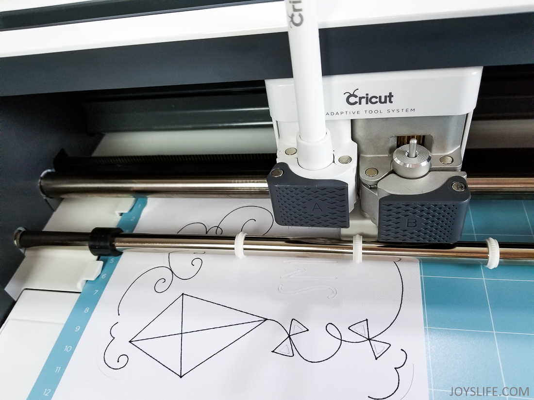 Cricut Maker pen kite drawing
