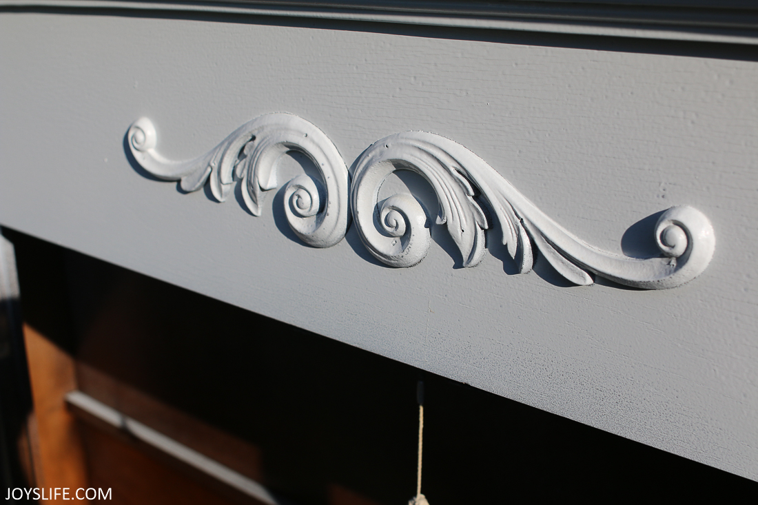 china cabinet wooden scroll