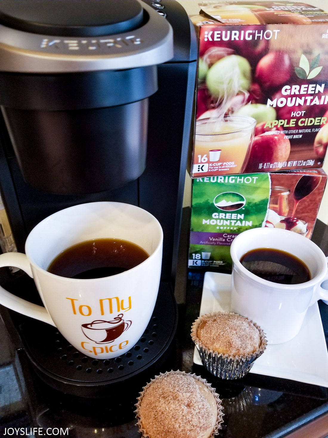 keurig kcup boxes muffins and coffee