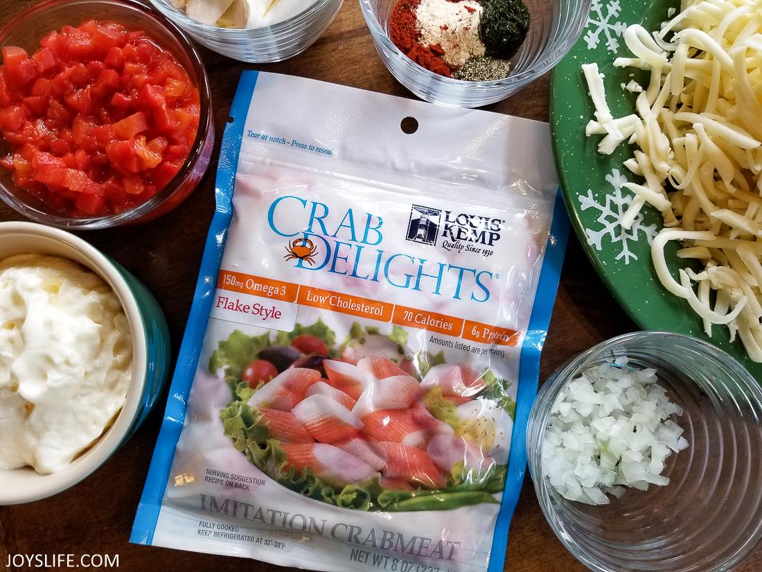 Smoky Crab Pimiento Cheese ingredients