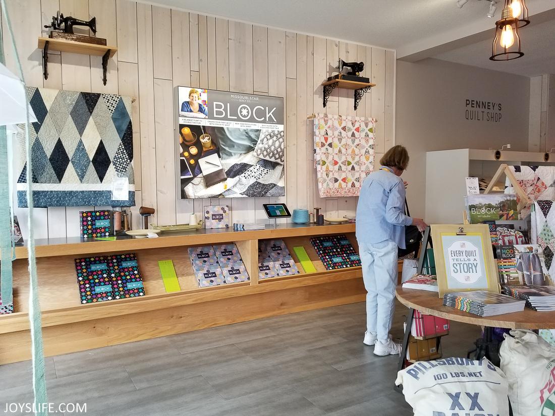Missouri Star Quilt Shop wall