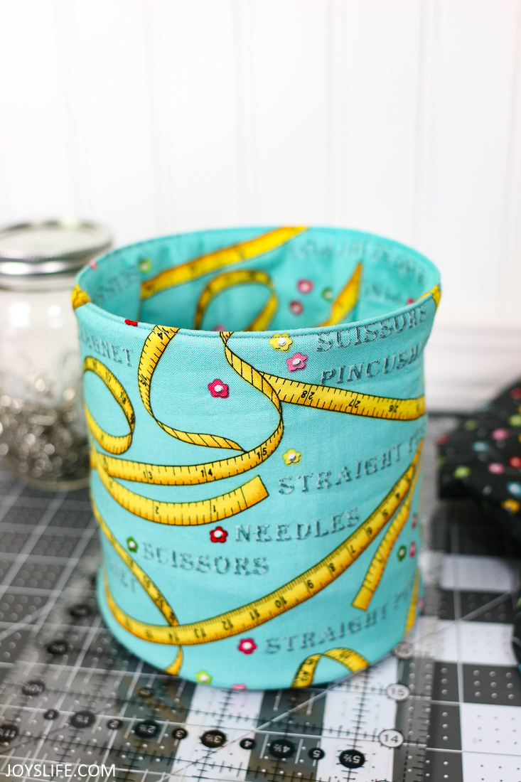 Sewing Themed Fat Quarter Pop Up Fabric Bucket