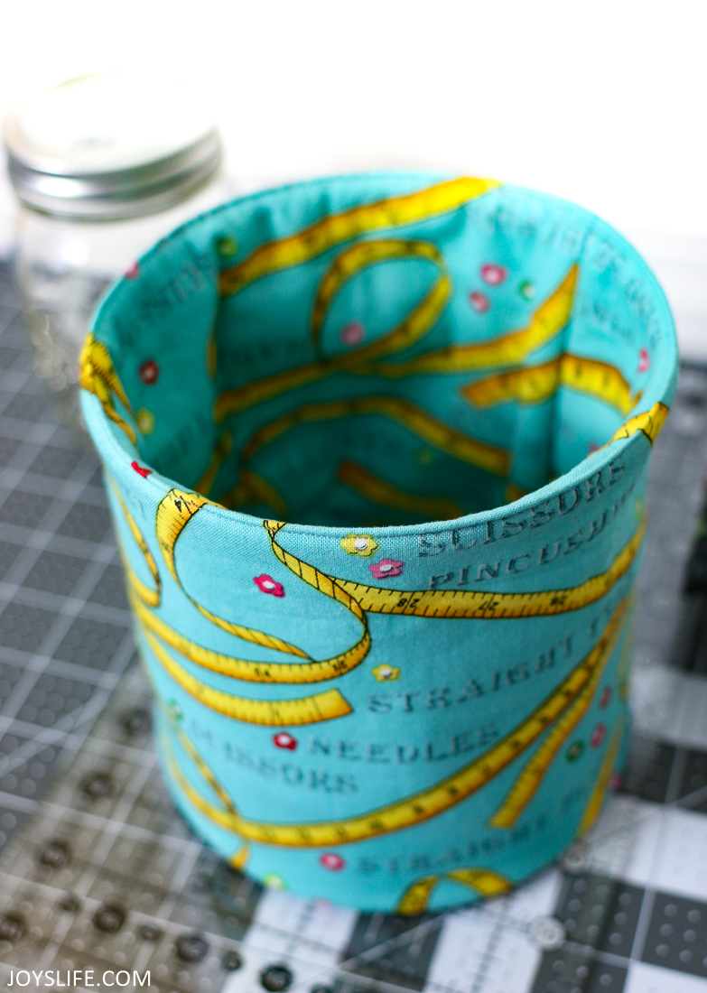 Pop Up Fabric Bucket from the Top